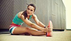 Senior Portrait / Photo / Picture Idea - Track - Cross Country - Runner / Running - Girls - Stretch