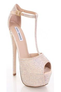 Champagne Multi Satin Faux Leather Rhinestone Studded T Strap Heels @ Amiclubwear Heel Shoes online store sales:Stiletto Heel Shoes,High Heel Pumps,Womens High Heel Shoes,Prom Shoes,Summer Shoes,Spring Shoes,Spool Heel,Womens Dress Shoes,Prom Heels,Prom P