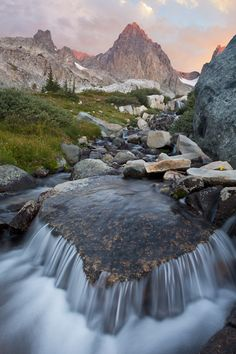 Alpine Stream, Ansel Adams...: Photo by Photographer Don Paulson