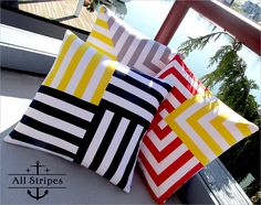 Nautical & Nice: Spun Stripes Pillow Trio | Sew4Home