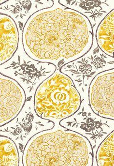 2620934 Katsugi Gold/Mushroom by F Schumacher Fabric Motifs Textiles, Textile Patterns, Textile Design, Color Patterns, Print Patterns, Paper Patterns, Illustration Arte, Illustrations, Grey Pattern