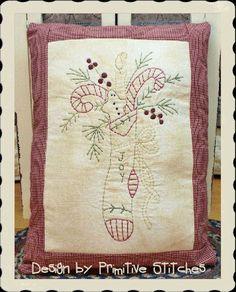 Joy StockingPrimitive Stitchery  EPATTERN by by PrimitiveStitches, $2.50