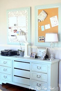 Cottage ● Dresser in a home office.