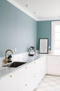 blue green Scandi kitchen