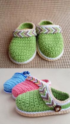 Crochet Baby Booties - Crochet Ankle Boots - Baby Clogs - Tribal Baby Clogs - Baby Shower - DIY Shoes - Crochet Shoes - Clothes for Diy And Crafts Crochet Socks, Booties Crochet, Crochet Baby Shoes, Crochet Baby Clothes, Baby Booties, Diy Crochet, Crochet Braids, Crochet Cow, Crochet Beanie