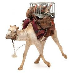 Camel with cages and hens 30cm Angela Tripi   online sales on HOLYART.co.uk