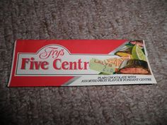fry's five centres chocolate - loved these as a kid...my dad always treated us to one of these after the dentist...ooops :-)