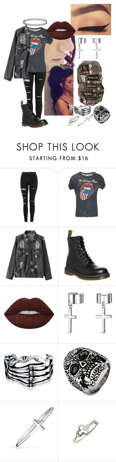 """Untitled #58"" by meghan-hemmings310 ❤ liked on Polyvore featuring Topshop, Dr. Martens, Lime Crime, Bling Jewelry, West Coast Jewelry and Sian Bostwick Jewellery"