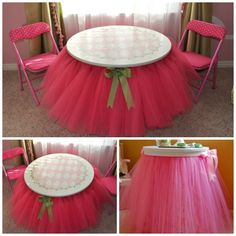 fabartDIY Tutu table skirt Tutorial