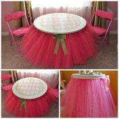 fabartDIY Tutu table skirt Tutorial