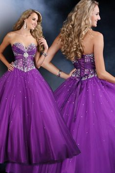 Purple sparkly dress