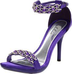 Ellie Shoes Women's 431-Sterling Sandal,Purple,7 M US