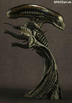 Alien 1: Big Chap Alien Warrior - Deluxe Büste, Fertig-Modell ... http://spaceart.de/produkte/al004.php