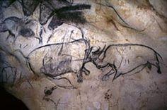 Grotta di Lascaux, 19.000-15.000 a.C. Colori scuri su superficie chiara. Scontro tra due bisonti. Ma non ho scelto questa immagine tanto per ciò che è rappresentato ma per il COME. Sono rimasta molto colpita dalla bellezza e dal realismo delle figure di quel periodo tanto lontano, dai lineamenti che sono così sicuri pur sapendo che non si possa tornare indietro per poter cancellare! Esprimono una vitalità che anche adesso, quindi molti anni dopo, è difficile da trasmettere!