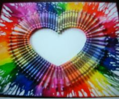 Melted Crayons on a Canvas