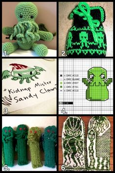 Geek Crafts: Cthulhu Craft Roundup #cthulhu #lovecraft #crafts