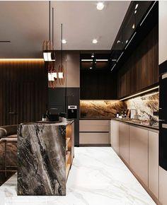 8 Cheap Things to Maximize a Small Bedroom . Modern Kitchen Interiors, Luxury Kitchen Design, Kitchen Room Design, Elegant Kitchens, Kitchen Cabinet Design, Luxury Kitchens, Home Decor Kitchen, Modern House Design, Interior Design Kitchen