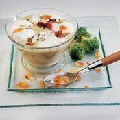 Velouté de brocolis cappuccino - une recette Légumes - Cuisine