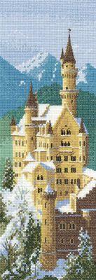 Schema punto croce Castello Neuschwanstein 01