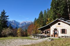 Chalet in Domegge di Cadore, Italy. Our rifugio offers single beds, traditional food and drink, fireplaces, and easy access to the trails and forests of the Cadore valley. It's a short drive from the nearest village 4 km far.  Rifugio Cercenà is open every day from May to October. W...