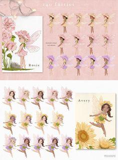 Fairy Clipart, Flower Clipart, Woodland Illustration, Graphic Illustration, Illustrations, Drawing Clipart, Woodland Fairy, Photoshop Elements, Pretty Little
