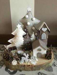 Декор и рукоделие (handmade) Christmas Sewing, Felt Christmas, Christmas Projects, Simple Christmas, Christmas Time, Christmas Wreaths, Christmas Ornaments, Handmade Christmas Decorations, Christmas Centerpieces