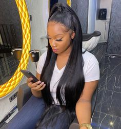 Weave Ponytail Hairstyles, Wigs, Full Frontal, Hair Styles, Inspiration, Instagram, Biblical Inspiration, Hair Makeup, Hairdos