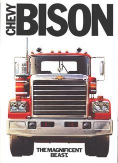 Chevy Bison 1977 Old Pickup Trucks, Big Rig Trucks, Gm Trucks, Diesel Trucks, Cool Trucks, Big Chevy Trucks, Heavy Duty Trucks, Heavy Truck, Peterbilt Trucks