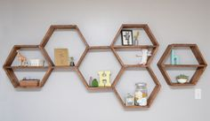 German Homes // Honeycomb Shelves and Organizing Ideas because they lack storage and closet space.