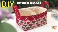 DIY DIVIDED FABRIC BASKET   วิธีทำตะกร้าผ้ามีช่องแบ่ง - YouTube Diaper Organization, Baby Canvas, Backpack Pattern, Calico Fabric, Baby Fabric, Vide Poche, Jar Crafts, Sewing Tutorials, Divider