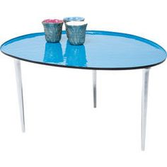 Coffee Table Egg Blue 65x75cm by KARE Design #blue #blau #coffee #table #egg #bleu #KARE #KAREDesign