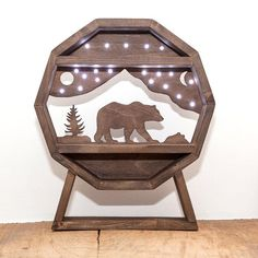 Wilderness Bear Light Up crystal Shelf! White Light, Light Up, Crystal Shelves, Headphone Holder, Witch Cat, Country Style Homes, Large Furniture, Beautiful Hands, Wilderness