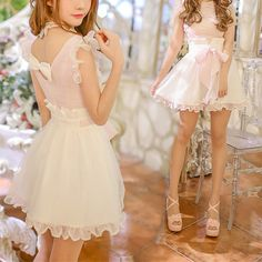 S-XL Pink Lolita Sleeveless Chiffon Dress SP166639