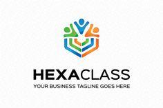 Hexa Class Logo Template by mudassir101 on Creative Market