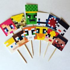 Stampy and Friends Cupcake Toppers, Stampylonghead, Friends, Stampy Birthday…