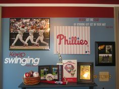 Awesome boys baseball room! Love that it's Phillies too! <3