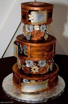Steampunk cake by Mi