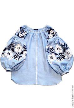 Купить Вышитая блуза женская бохо, этно стиль Vita Kin,Bohemia - цветочный…