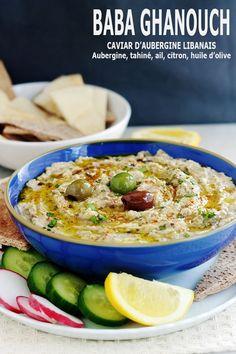 Baba ghanoush libanais (recette baba ghanouch) - The Best Dinner Recipes Chef Recipes, Veggie Recipes, Vegetarian Recipes, Dinner Recipes, Cooking Recipes, Healthy Recipes, Tahini, Caviar D'aubergine, Dips