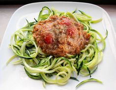 Celeriac Linguine with Bolognese Sauce and Hemp Parmesan