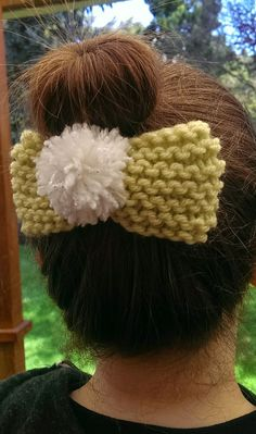 Tinkerbell Disneybound Knit Bow Clip