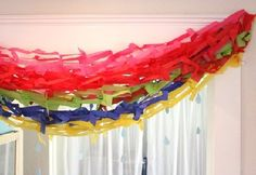 St. Patrick's Day gorgeous DIY rainbow streamers by Giver's Log