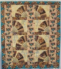 Pharaoh's Fan Quilt by Shari McDonnell Guimont & Norma Kiehm