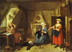 William Hogarth - The Distressed Poet