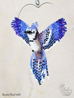 Suncatcher Ave moldeado 3D Blue Jay aves collar por AlulaCreations