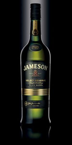 """Jameson Black Barrel Irish Whiskey: """"A burst of flavors combines to produce a creamy, luscious taste experience. The special fruity sweetness from the grain remains consistent, while the waves of vanilla, tasted wood and spices roll through from the pot still whiskey and flame charred barrels.""""- Distiller's notes"""