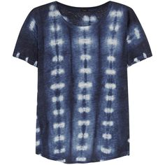 J.Crew Tie-dyed linen-jersey T-shirt ($47) ❤ liked on Polyvore featuring tops, t-shirts, shirts, tie dye shirts, tye dye shirts, t shirts, blue linen shirt and tiedye t shirts