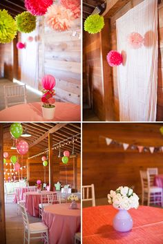 Whimsical Pink and Green Birthday Party