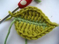 Attic24: Crochet leaf tutorial...