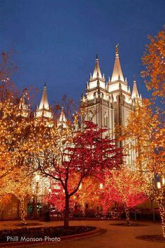 Mormon Temple, SLC during holidays